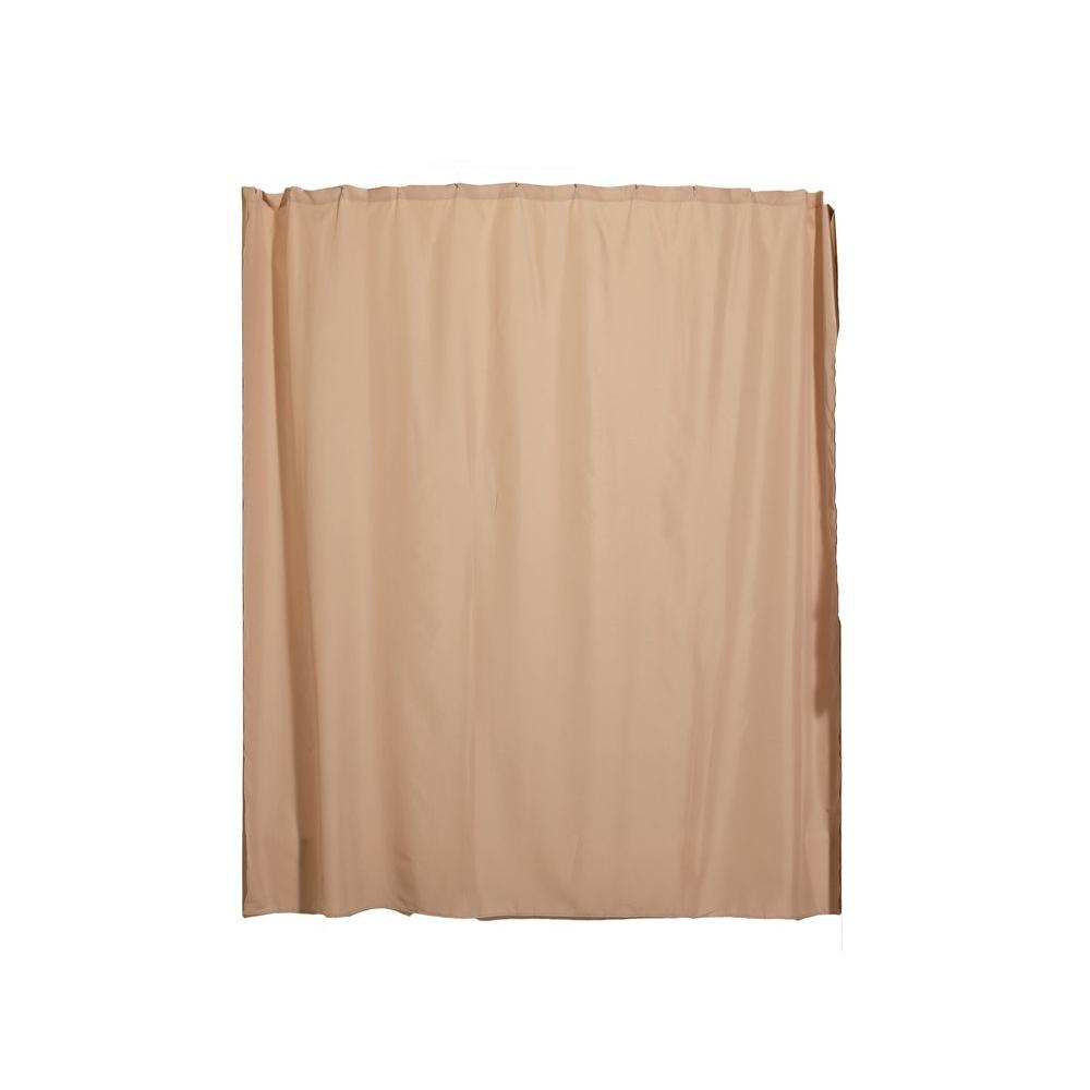 Aulaea Infinity Collection 72 in. Shower Curtain Liner in Chardonnay