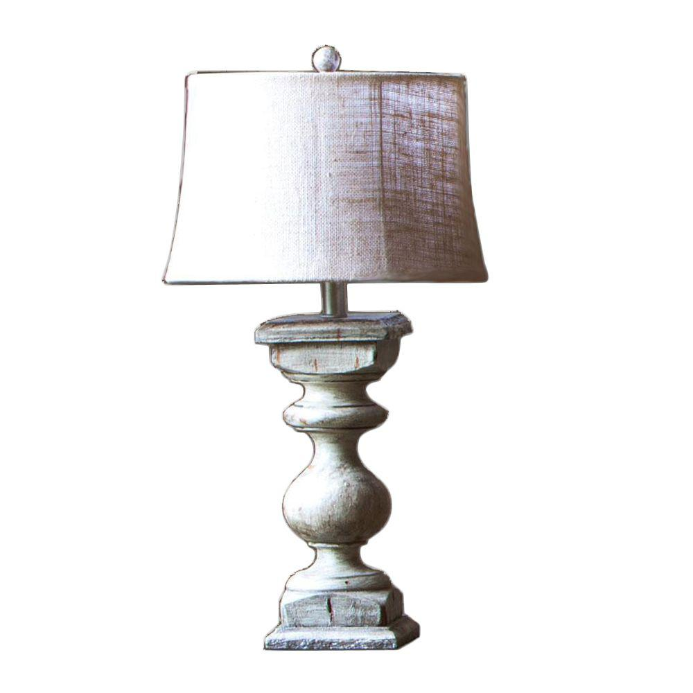 Home Decorators Collection Balustrade 26 in. Gray Lamp with Shade