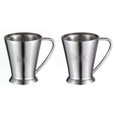 Columbia Double Walled Stainless Steel Set of His and Hers Coffee Mugs
