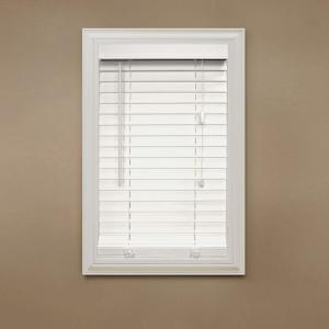 home decorators blinds. Home Decorators Collection White 2 in  Faux Wood Blind 35 W x 48 L Actual Size 34 5 10793478079209 The Depot