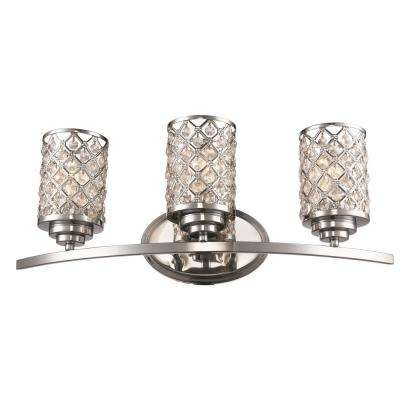 3-Light Polished Chrome Vanity Light