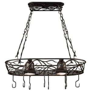 Kenroy Home Twigs 58 inch 2-Light Bronze Pot Rack by Kenroy Home