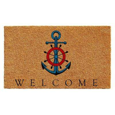 Ships Anchor Welcome Door Mat 17 in. x 29 in.