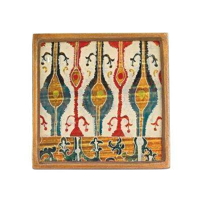 4 in. 4-Piece Square Ikat Coaster Set