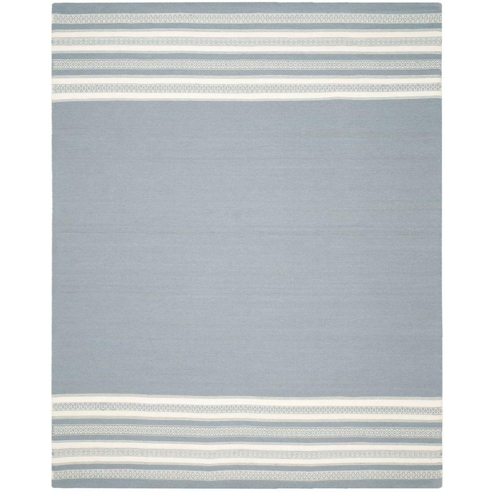 Dhurries Grey 8 ft. x 10 ft. Area Rug