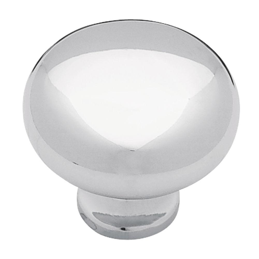 Liberty Logan 1-1/4 in. (32mm) Polished Chrome Round Cabinet Knob (10-Pack)