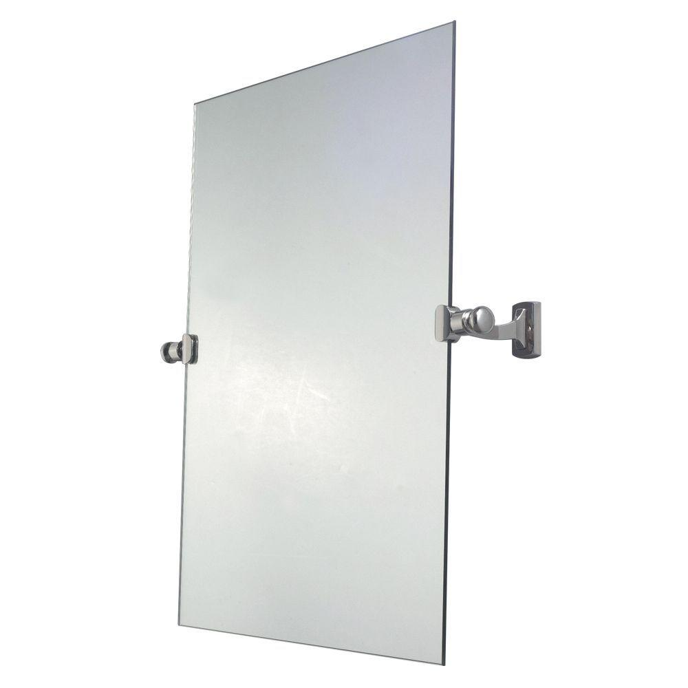 Innova Jameson 24 in. x 22 in. Pivoting Mirror in Polished Nickel-DISCONTINUED