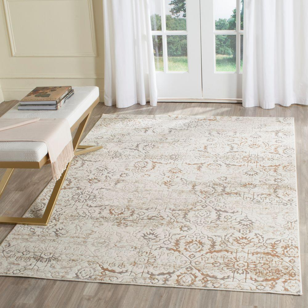 Safavieh Artifact Grey Cream 8 Ft X 10 Ft Area Rug Atf237c 8 The
