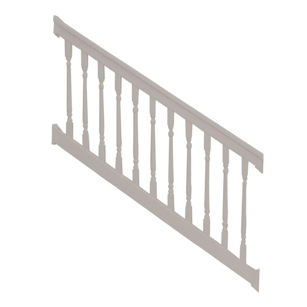 Weatherables Delray 36 in. x 96 in. Vinyl Tan Colonial Stair Railing Kit