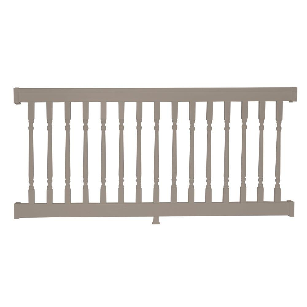 Delray 36 in. x 72 in. Vinyl Khaki Colonial Straight Railing