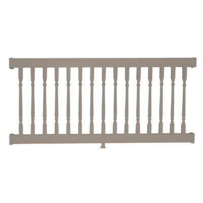 Delray 3 ft. H x  8 ft. W Vinyl Khaki Railing Kit with Colonial Spindles