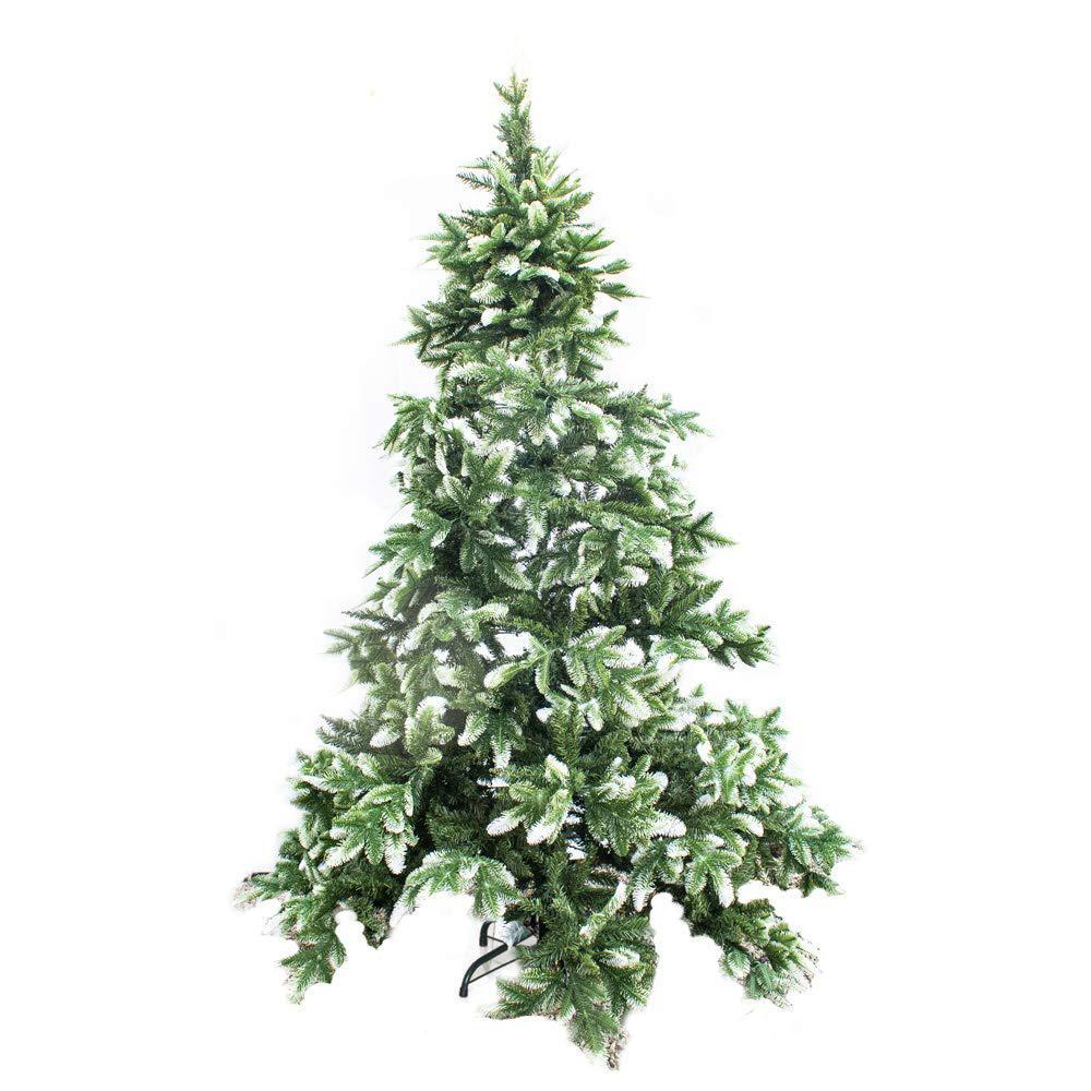 Real Looking Fake Christmas Trees: ALEKO 6 Ft. Unlit Artificial Christmas Tree-CTBS71H1116-HD