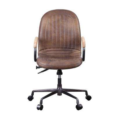 Acis Vintage Chocolate Top Grain Leather Executive Office Chair