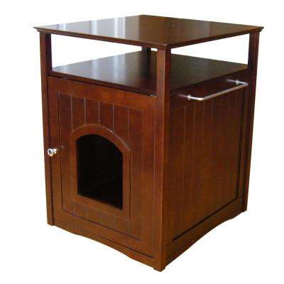 Walnut Cat Washroom Litter Box Cover