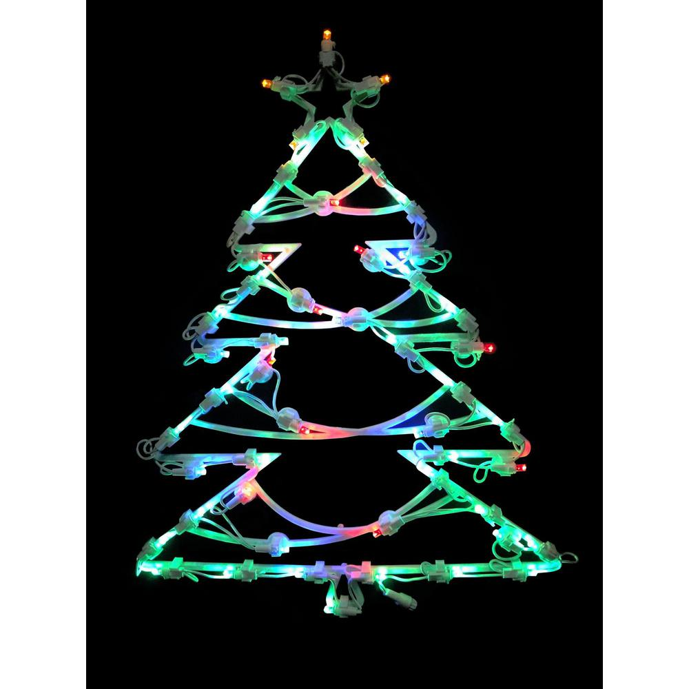 Northlight 18 In Led Lighted Tree Christmas Window Silhouette Decoration