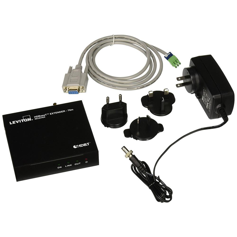 HDMI Extender with HDBaseT Receiver Only 70 m, Black