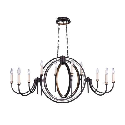 Aurea 10-Light Golden Brown Chandelier