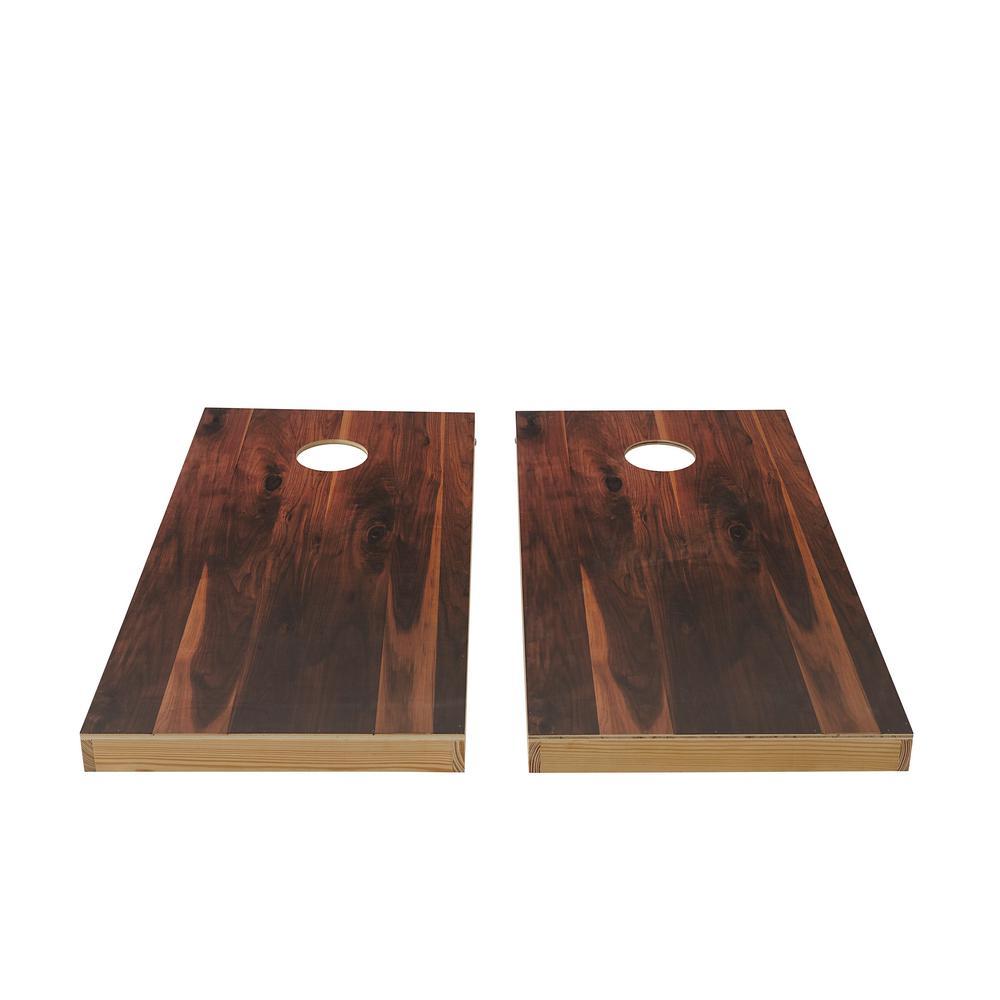 Walnut Wood Cornhole Set