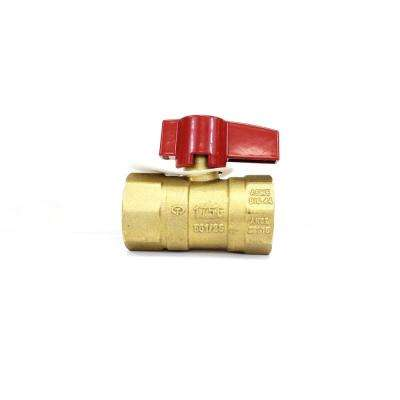 1/2 in. Brass FPT x FPT Lever Handle Gas Ball Valve (2-Pack)