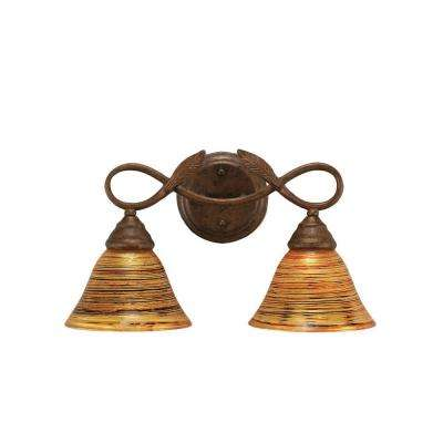 concord 2light bronze wall sconce