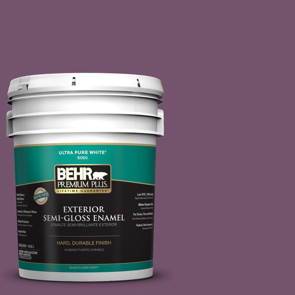 BEHR Premium Plus 5-gal. #PMD-87 Exotic Orchid Semi-Gloss Enamel Exterior Paint
