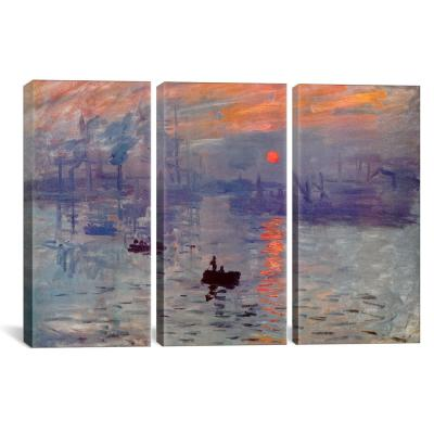"""Sunrise Impression"" by Claude Monet Canvas Wall Art"