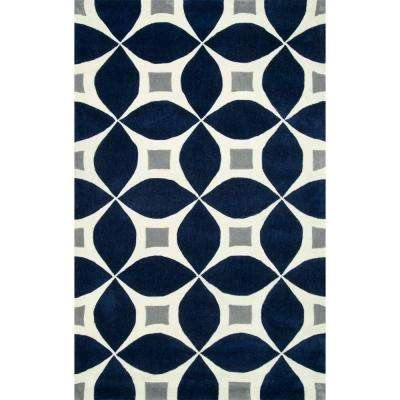Gabriela Navy 8 ft. x 10 ft. Area Rug