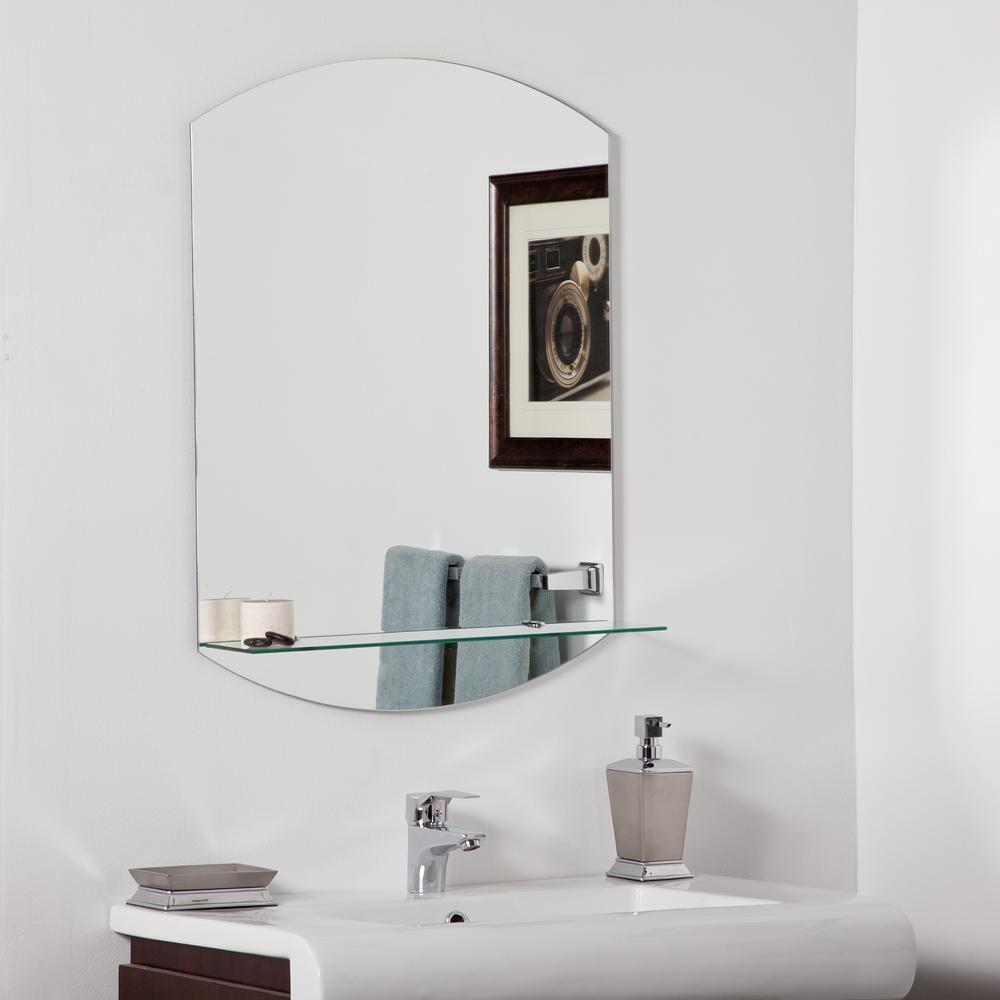 Decor Wonderland 10 in. W x 10 in. H Frameless Arched Bathroom Vanity  Mirror in Silver-DWSM10 - The Home Depot