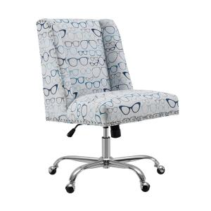 Pleasing Alex Glasses Print And Chrome Base Office Chair Theyellowbook Wood Chair Design Ideas Theyellowbookinfo