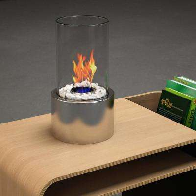 Ghost 6 in. Vent-Free Ethanol Fireplace in Stainless steel