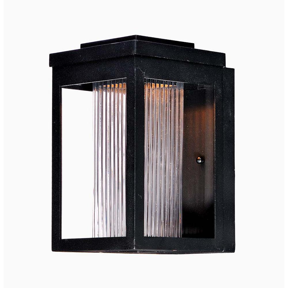 Salon 6 in. W 1-Light Black Outdoor Wall Lantern Sconce