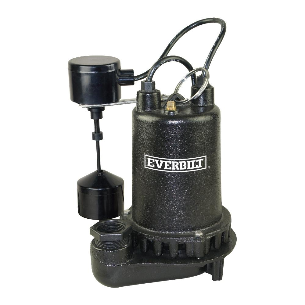Everbilt 1 Hp Professional Sump Pump Pssp10001vd The Home Depot Phase Water Problems