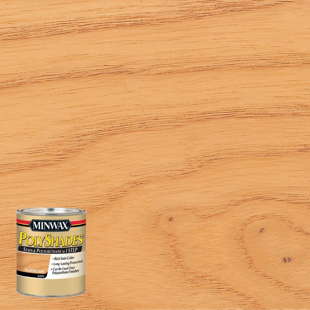 8 oz. PolyShades Classic Oak Satin 1-Step Stain and Polyurethane (4-Pack)