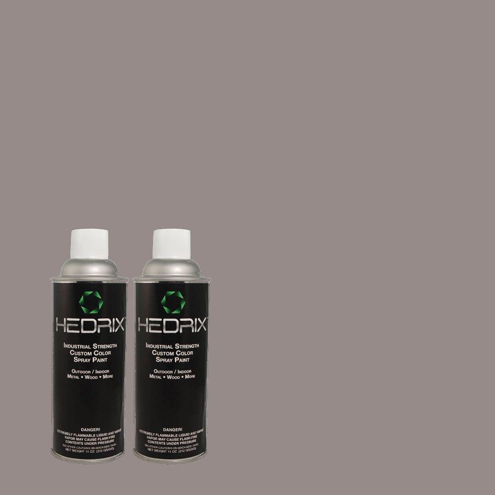 Hedrix 11 oz. Match of PPU16-15 Gray Heather Gloss Custom Spray Paint (8-Pack)