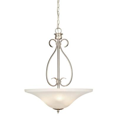 Fontane 3-Light Brushed Nickel Pendant