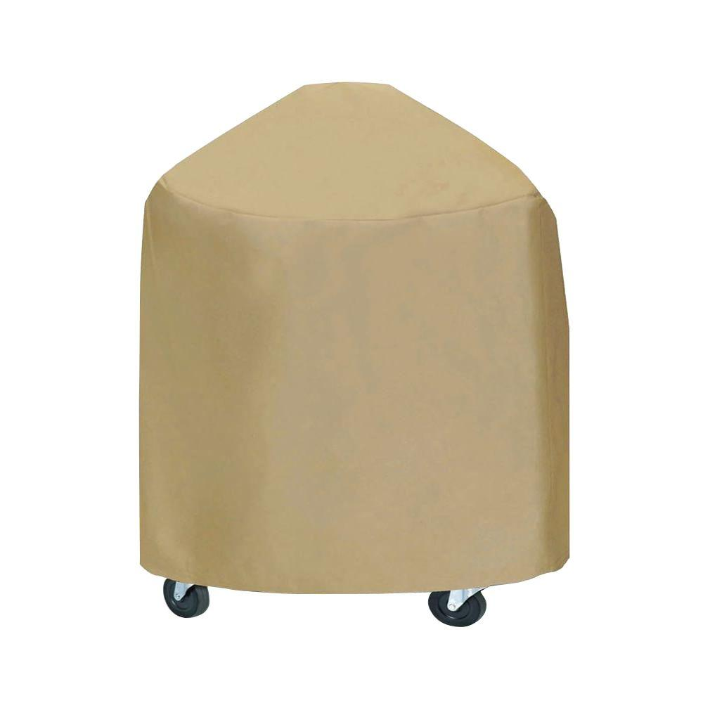 33 in. XLarge Round Grill/Smoker Cover in Khaki