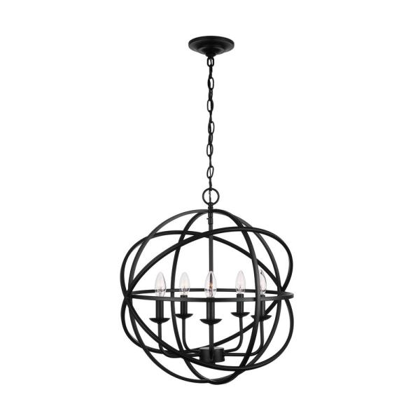 5-Light Black Sarolta Sands Orb Chandelier