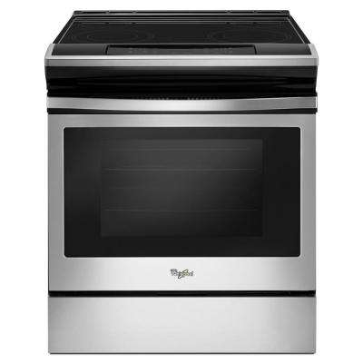 4.8 cu. ft. Single Oven Electric Range with Easy-Wipe Ceramic Glass Cooktop in Stainless Steel