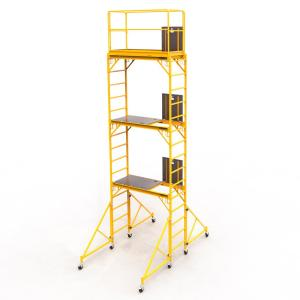 MetalTech Safeclimb Baker Style 18 ft. x 6.1 ft. x 2.5 ft. Steel Scaffold Tower with 1000 lbs. Load... by MetalTech