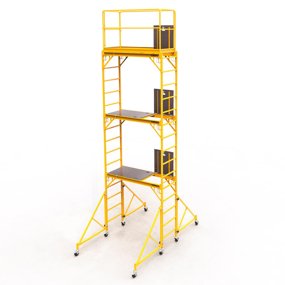 MetalTech Safeclimb Baker Style 18 ft. x 6.1 ft. x 2.5 ft. Steel Scaffold Tower with 1000 lbs. Load Capacity