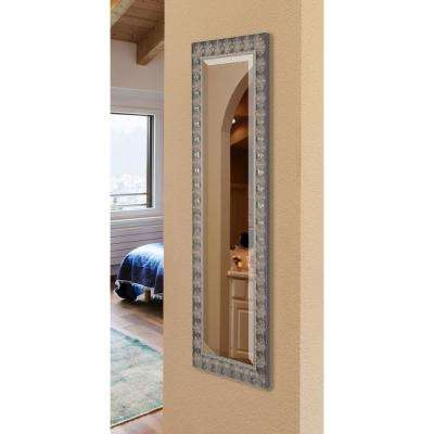 22 in. x 61 in. Feathered Accent Rounded Beveled Slender Vanity Body Mirror