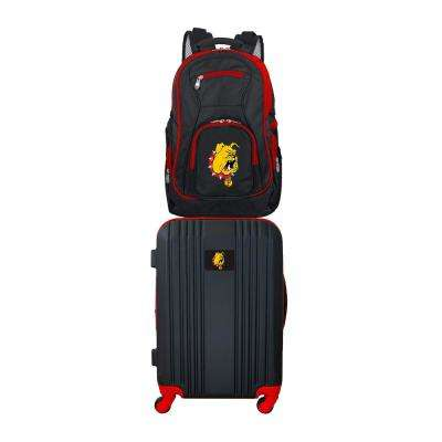 NCAA Ferris State Bulldogs 2-Piece Set Luggage and Backpack