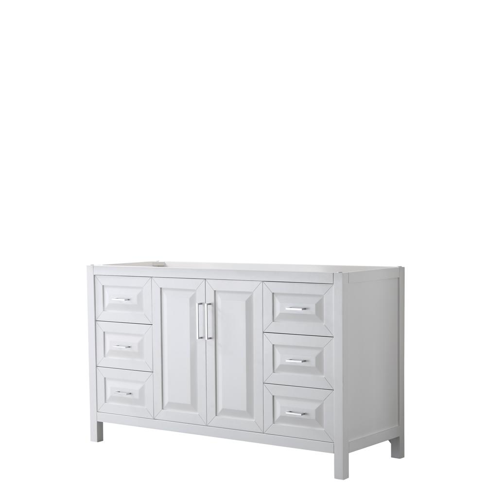 Daria 59 in. Single Bathroom Vanity Cabinet Only in White
