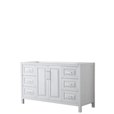 Daria 59 in. Single Bathroom Vanity Cabinet Only in White