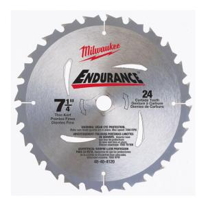 Milwaukee 7-1/4 in x 24 Carbide Tooth Circular Saw Blade by Milwaukee