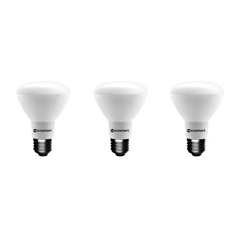 EcoSmart 75-Watt Equivalent BR20 Dimmable Energy Star LED Light Bulb Daylight (3-Pack)