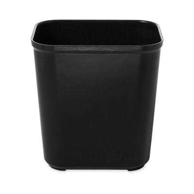 7 Gal. Black Rectangular Fire-Resistant Trash Can