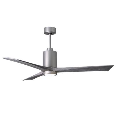Patricia 60 in. LED Indoor/Outdoor Damp Brushed Nickel Ceiling Fan with Light with Remote Control, Wall Control