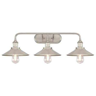 Maggie 3-Light Brushed Nickel Wall Mount Bath Light