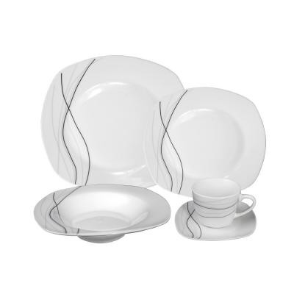 Porcelain 20-Piece Square Dinnerware (Service for 4)